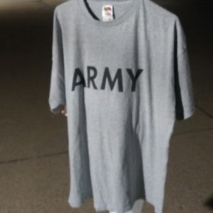 Men's Army Short Sleeve T-Shirt Tee Shirt XL